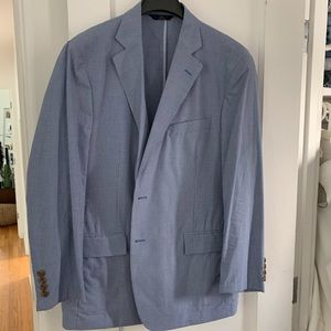 Brooks Brothers Regent Fit Blue Gingham Blazer